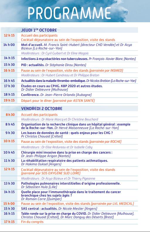 Programme de la J17 du CPHG