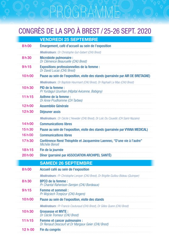 Programme Congrès SPO 2020